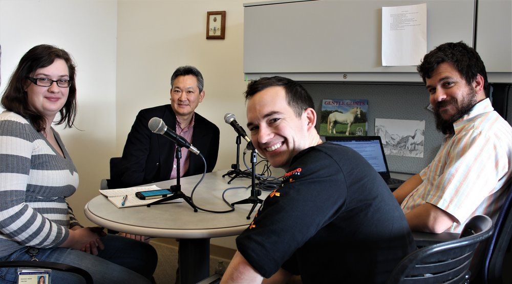 Dr. Amemiya interview. PC: Kinsey