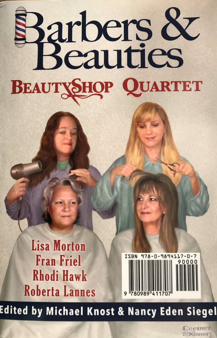 Barbers & Beauties has 2 Covers!  It's a FlipBook. It's read from the Front for the Barbers and from the Back for the Beauties!