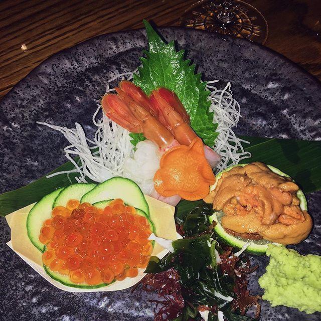 Ikura, Bontan Ebi, & Uni sashimi ✨#sushisushi
