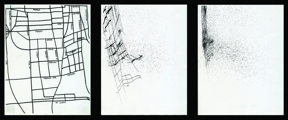 """""""230 Days Since Portland, Maine"""" photocopies #1, #115, #230"""