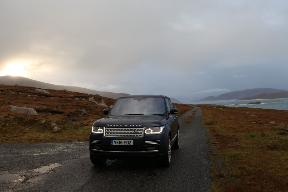 The road trip begins in this beast of a Range Rover