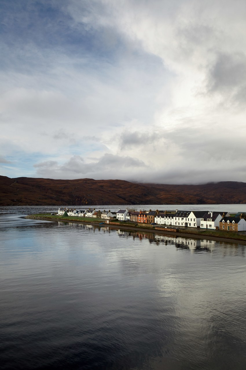 The port town of Ullapool, where you catch the ferry to Lewis.