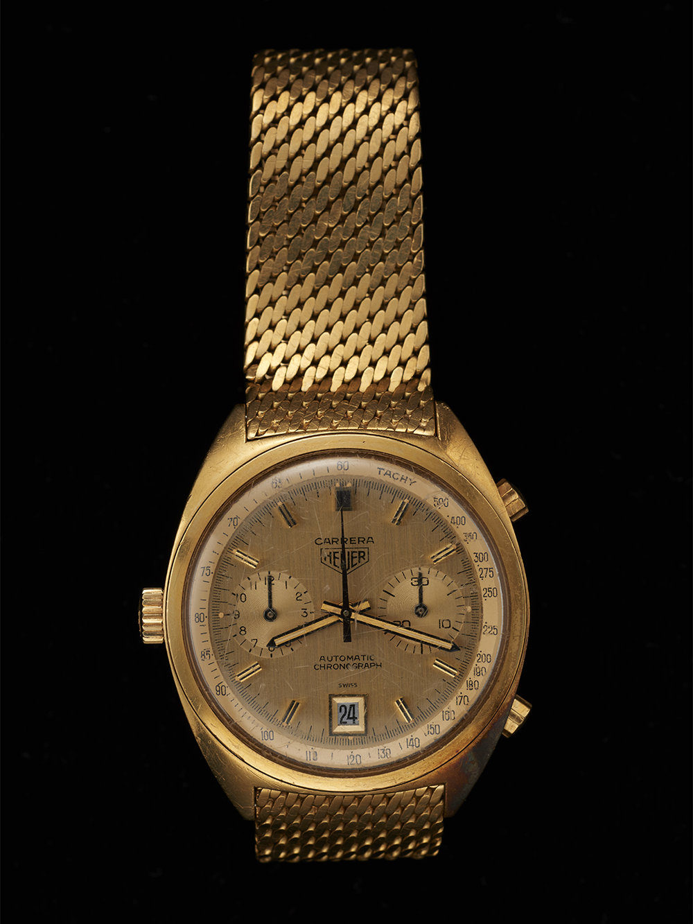 Mario Andretti's Gold Heuer given to him by Jack Heuer when he raced for Ferrari