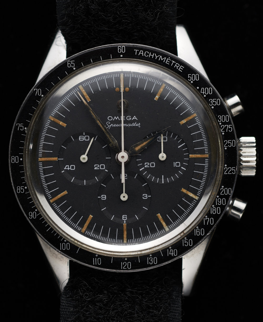 wally Shirra's Omega Speedmaster he wore to the moon