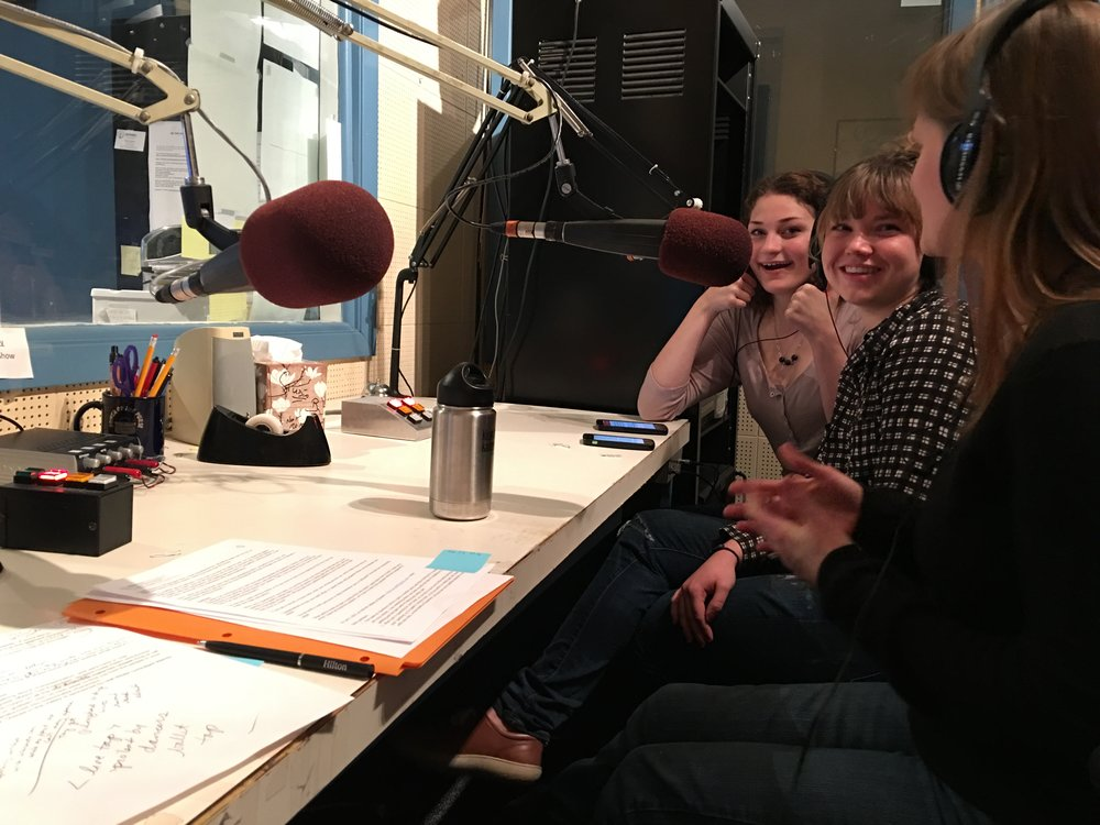 Rebecca and Jill in the studios of KLBB