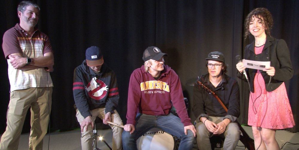 Jeff Brandt and Stephani Atkins interview band members of Mister Wes: Gunnar Lindquist, Caleb Bakke and Will Suit