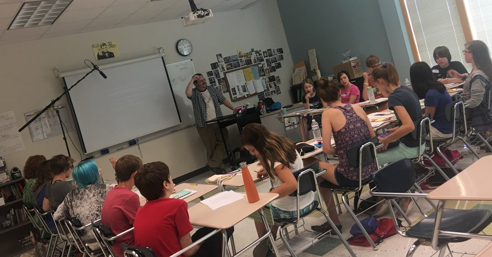 Twenty-four students participated in The Shire's summer creative writing intensive for the Boom Site