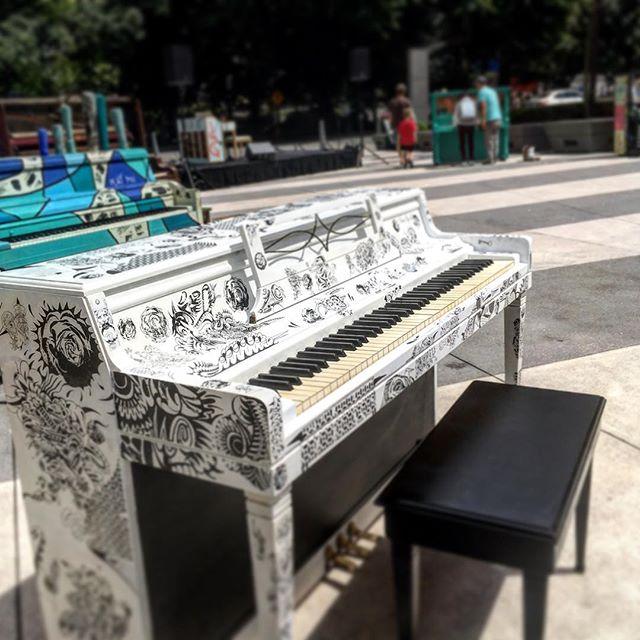 Had the pleasure of playing some TFALP tunes @portlandartmuseum Piano.Push.Play exhibit. Very cool pianos! #pianopushplay #pdxmusic #art #piano #thefoilantennalp #music #rockandroll