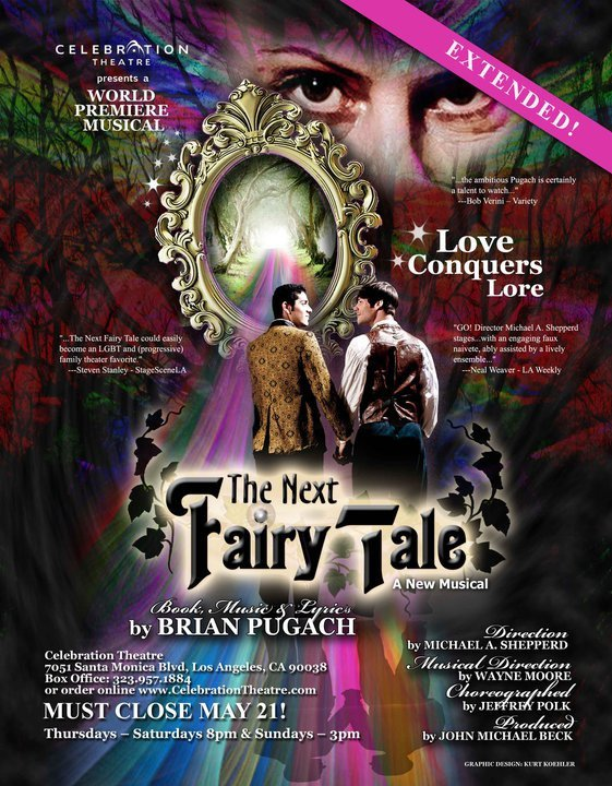 Artwork for the world premiere of The Next Fairy Tale at Celebration Theater