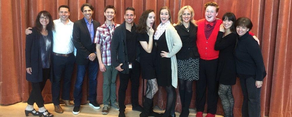 Creative Team/Cast of Apples & Oranges Studios reading--Orlando, May 2017