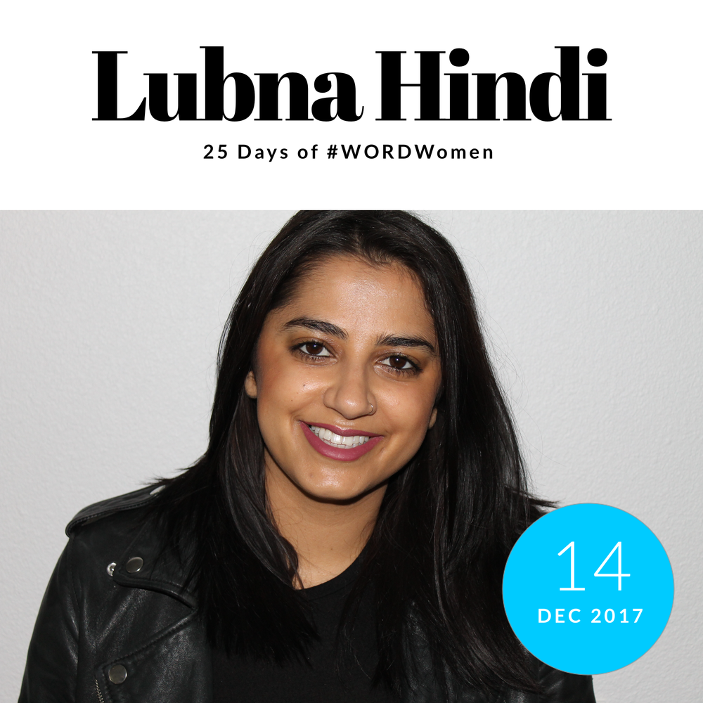 Lubna Hindi, Program Director at Step Up Women's Network    1. What are you grateful for?   I am grateful for the mentors and friends in my life who always remind me to take a breathe and harness my energy. It's no myth that you are given a million 'no's' at the beginning of your career. I've wanted to leave the music industry so many times and everytime I do, the amazing support system of brilliant women in my life wont let me. They see my potential even when I don't. To Elena, Zoila, + Myriam- I sincerely thank you!!!   2. Favorite Collaborations in 2017:   One of my favorite collaborations of 2017 is working with the amazing team at Above Ground. I am excited to be in a space where artistry + musicality are held in the highest regard. 2018 is going to be the year of the ROCKSTAR!    3. Nominate one woman to know:    Shavone Charles , Head of Global Music & Youth Culture at Instagram.