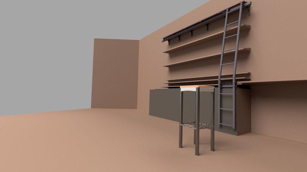 Ladder- and Stool Design @ Bar Capitol Luzern