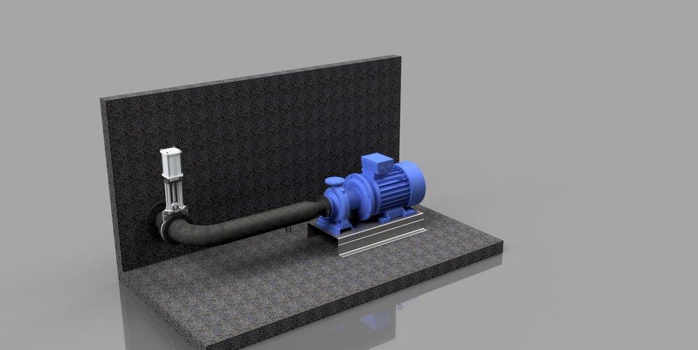 Einbaukonzept Prozesswasserpumpe