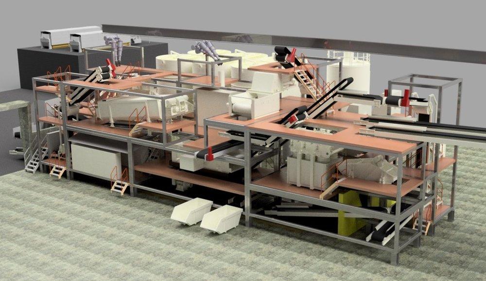 Containermobile Aushub-Waschanlage