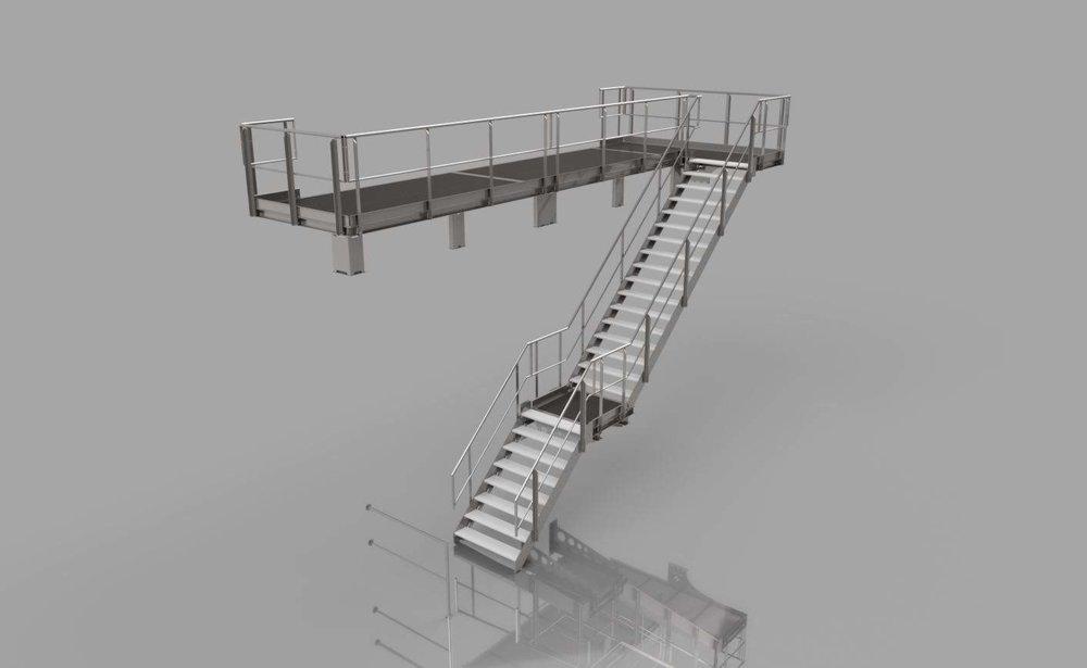 Begehung / Treppen, Podeste und Geländer