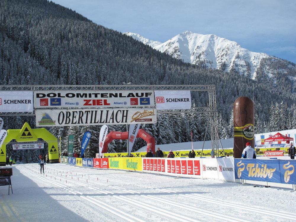 Dolomitenlauf finish line