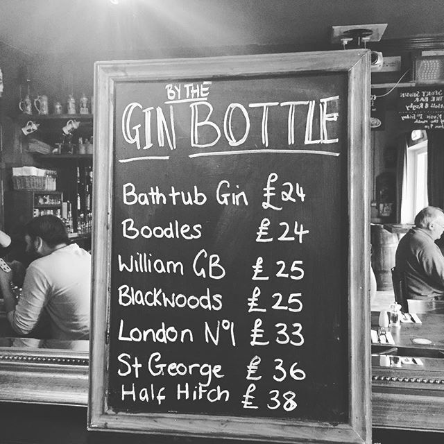 We are selling Some Gins by the bottle. So now if you like your Gin and Tonic you can by it to take home. #gin #ginoclock