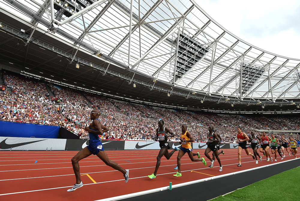 Mo Farah will once again take to the track at the Queen Elizabeth Olympic Park in Summer 2017. Photo: Tom Dulat - British Athletics via Getty Images