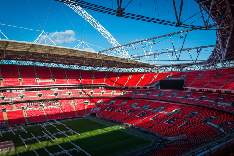 Visit the iconic Wembley Stadium where a different kind of football will be played in September.