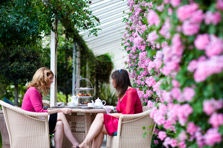 Take your tea on the Geranium Terrace at The Royal Hotel.