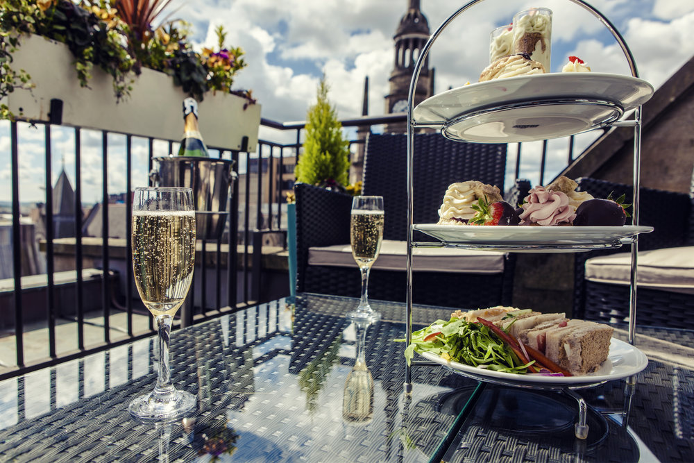 Dine up high at the Carlton George Hotel, Glasgow
