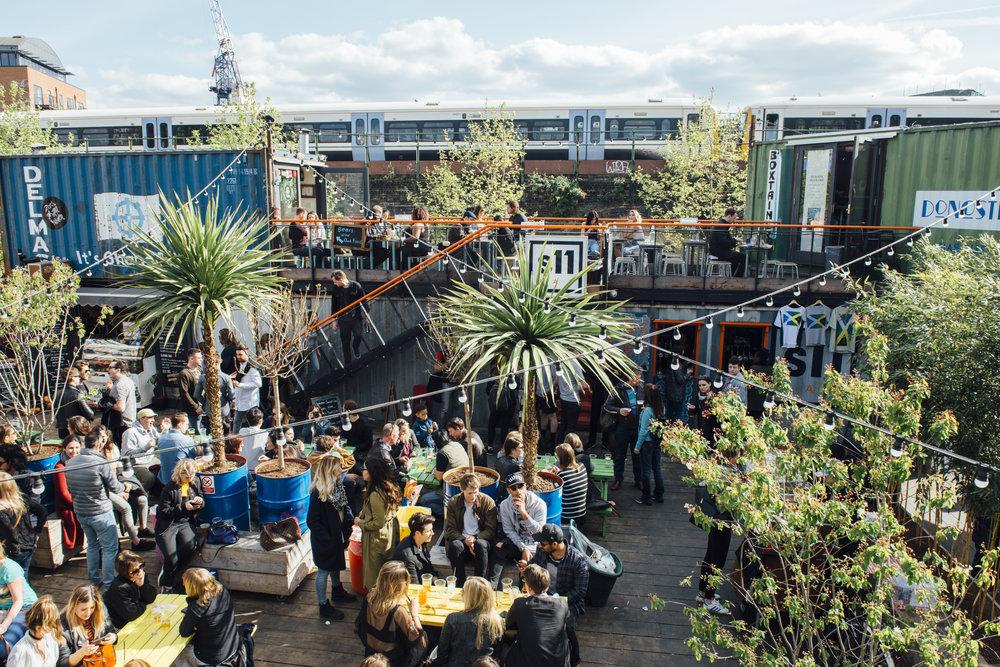 Enjoy the sunshine at Pop Brixton