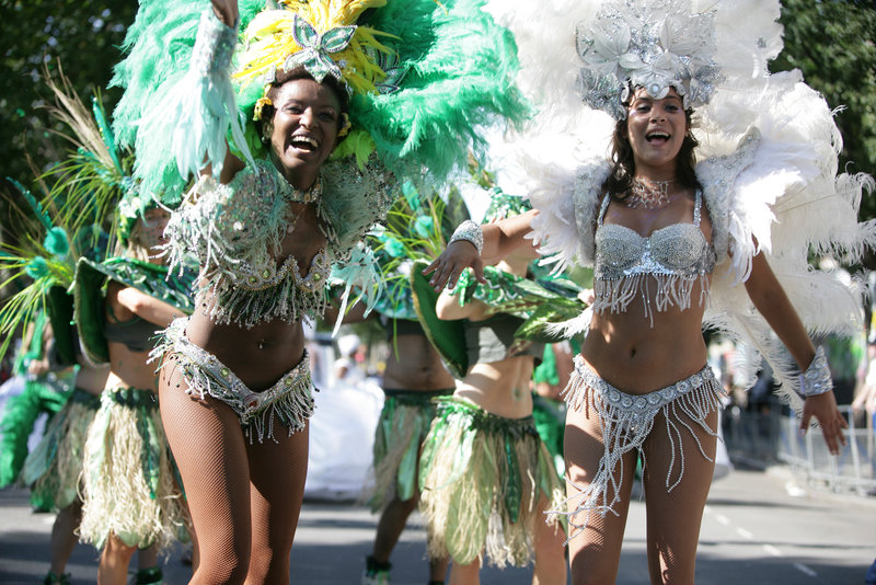 Flamboyant costumes and street dancing are just one of the festivites at Notting Hill Carnival