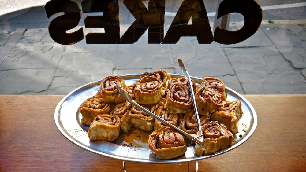 The famous Chelsea Buns at Fitzbillies
