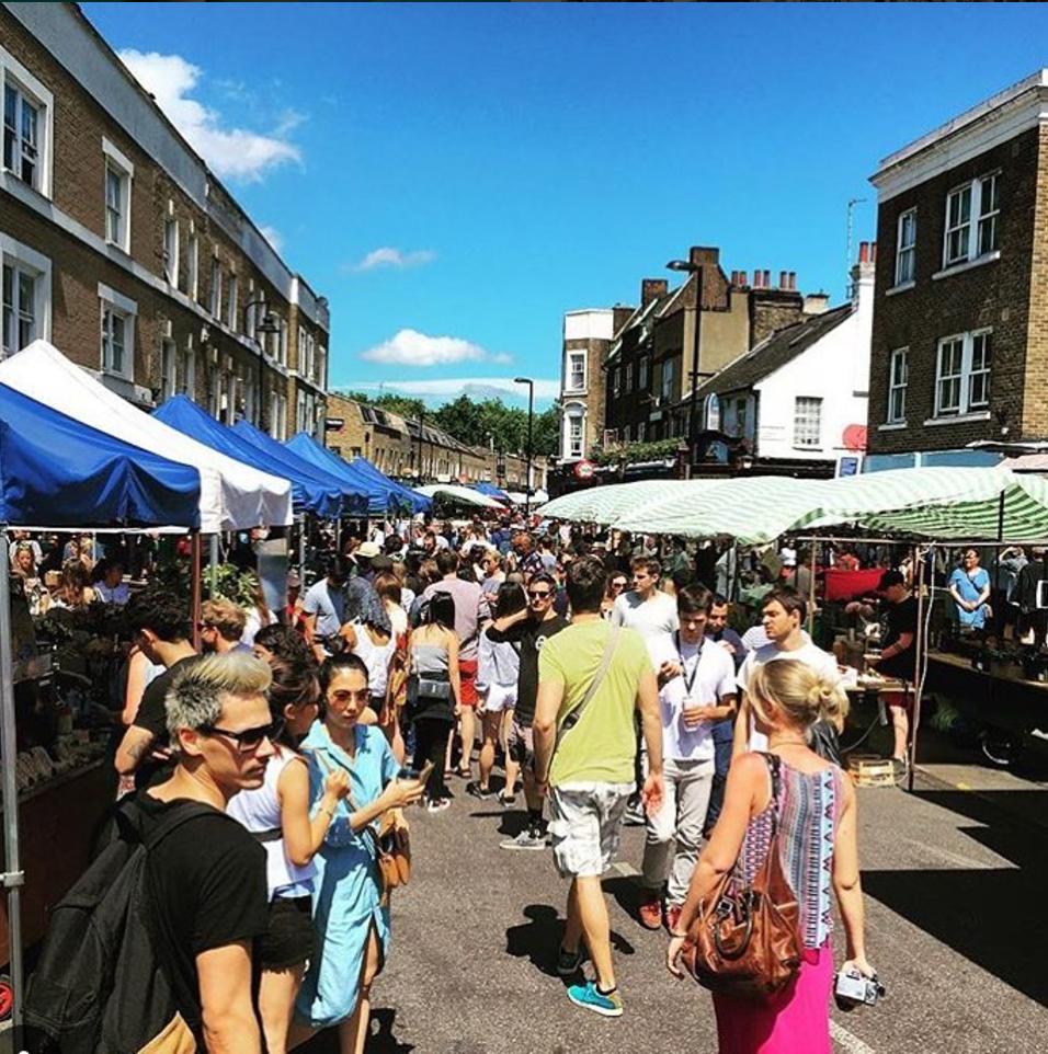 Visit Broadway Market on Saturdays to stroll and shop. Image: Broadway Market, Hackney Gov.