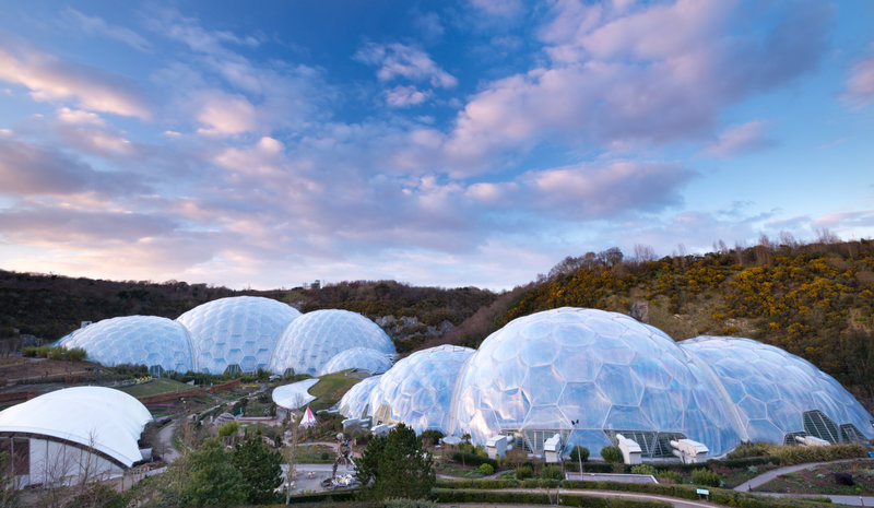 Geodesic domes at the Eden Project.