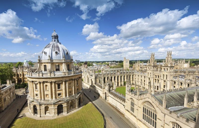 Admire Oxford's steeples as you explore the university