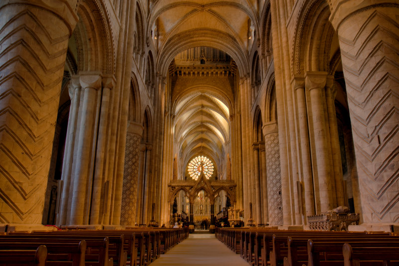 Admire Durham Cathedral's magnificent architecture