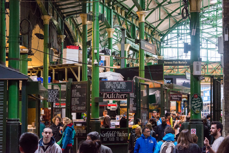 Experience the bustle and energy of Borough Market and try the fantastic foods on offer