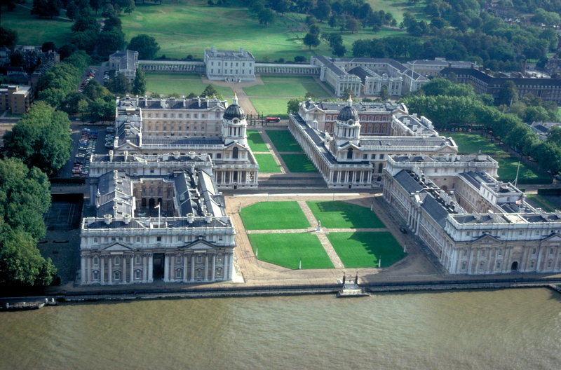 Marvel at the stunning architecture of The Old Royal Naval College in Greenwich