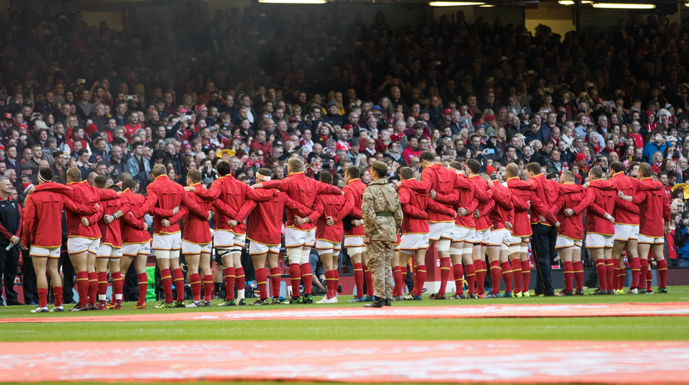 Get ready to cheer with the fans at Principality Stadium. Photo from: Welsh Rugby Union