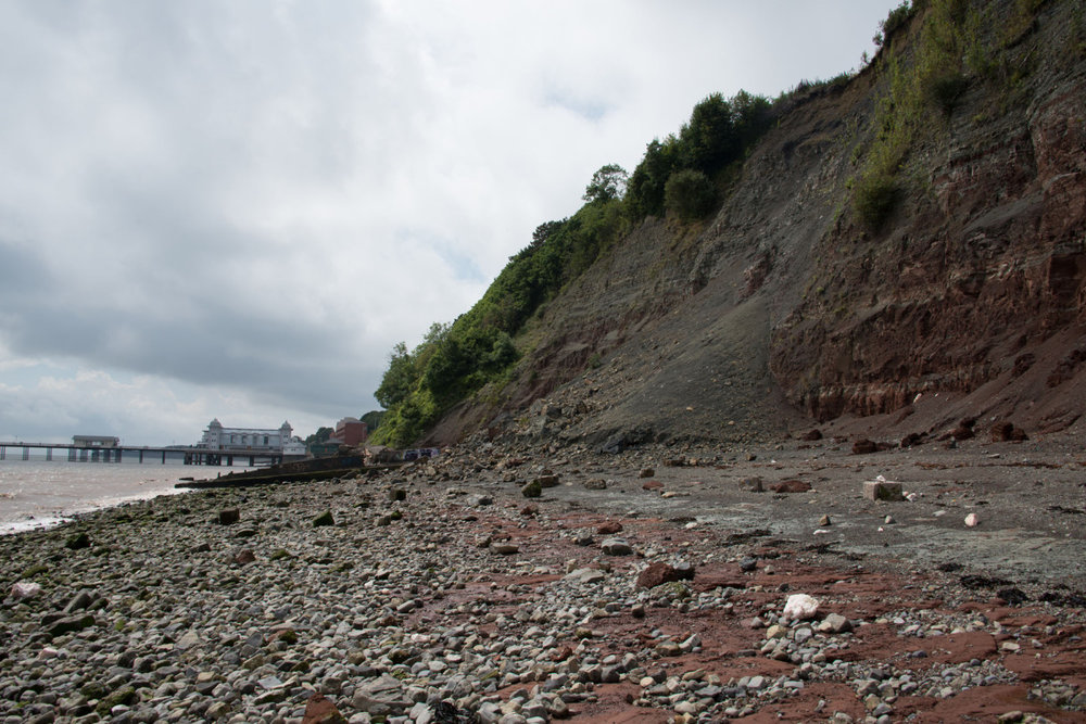 Go fossil hunting alongside the bay. Photo from: UK Fossils Network