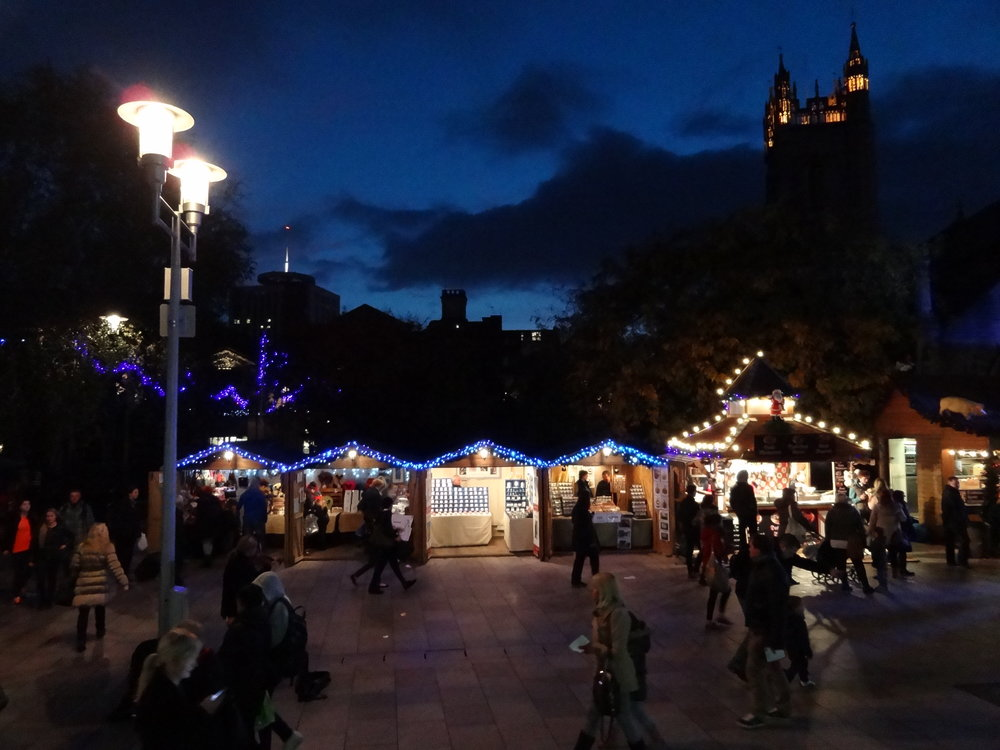 Festive shopping in Cardiff. Image courtesy of Cardiff Christmas Market
