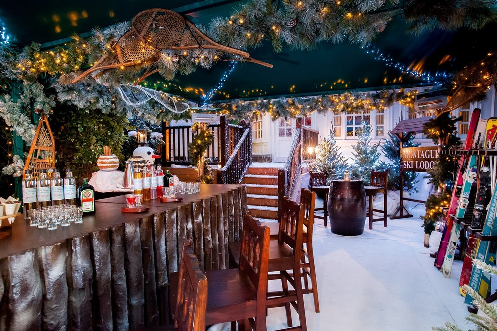 Pretend you're in the mountains at this cozy ski lodge. Photo from:  The Montague on the Gardens.