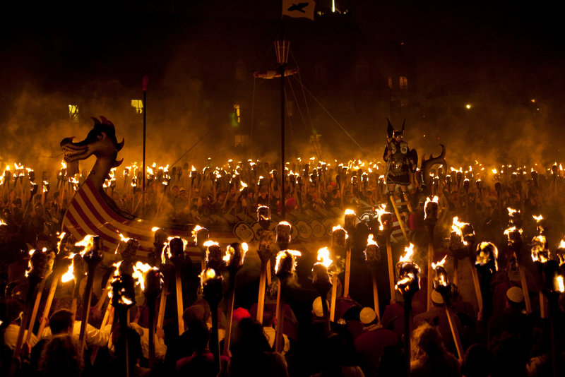Fiery celebrations at Up Helly Aa