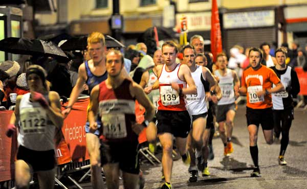 Cheer on the runners for a different type of New Year celebration. Photo courtesy of Nos Galan Road Races