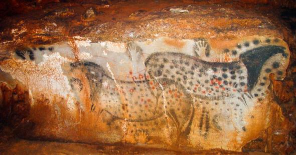 Handprints in ancient cave art most often belonged to women, overturning the dogma that the earliest artists were all men.  PHOTOGRAPH COURTESY DEAN SNOW for National Geographic