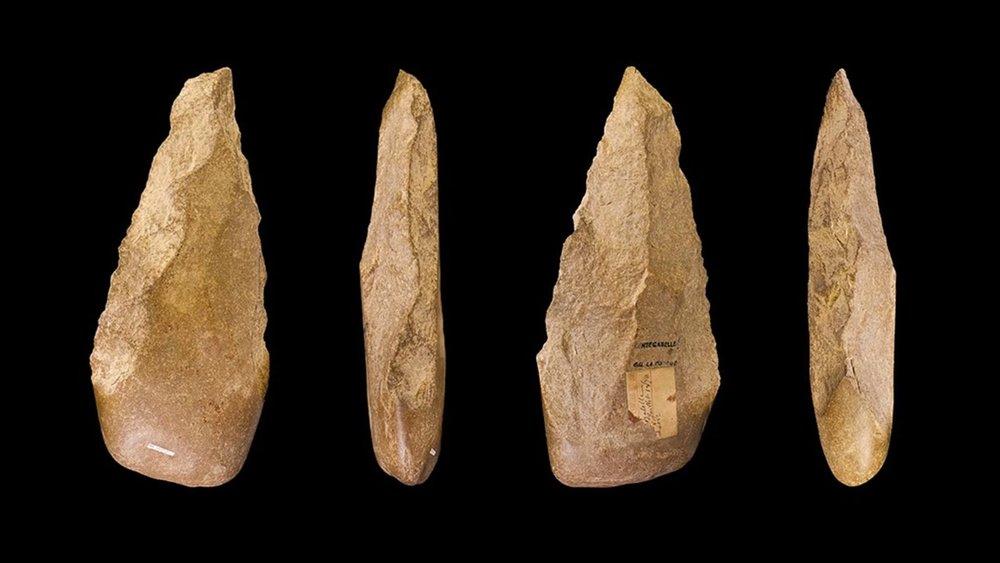 Paleolithic stone tools. Google Images.