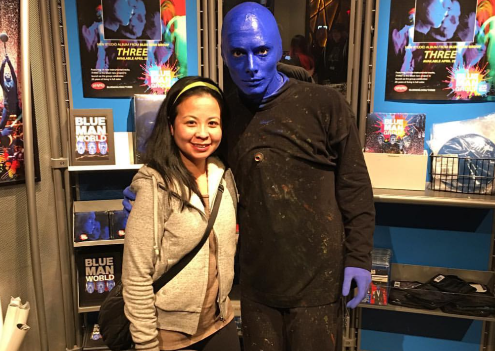 Meeting Blue Man