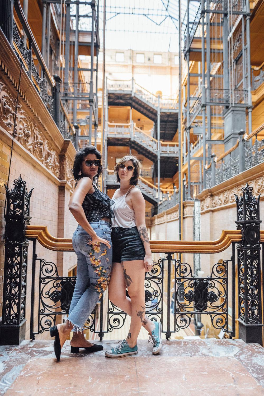 Yaz and I -The Bradbury Building.