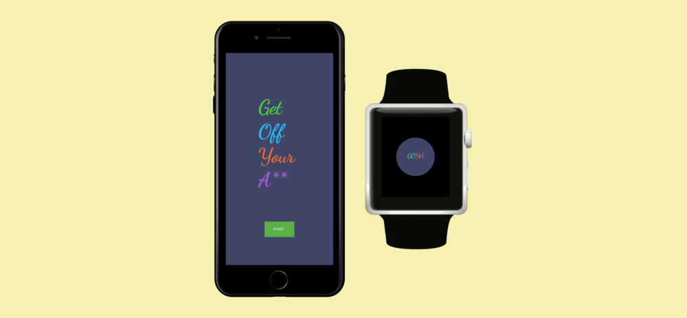 GET OFF YOUR A** - Health App and Watch Design