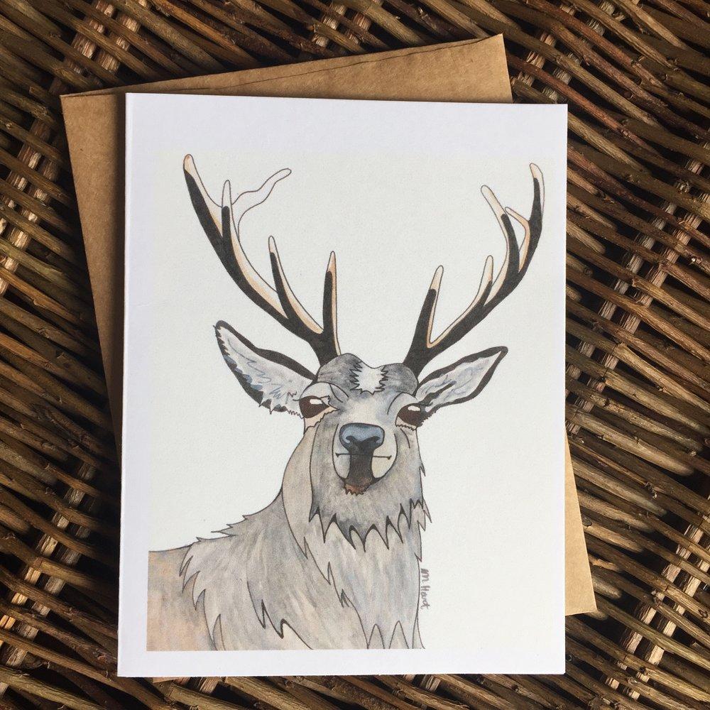 Woodland Creature Notecard - Hart.JPG
