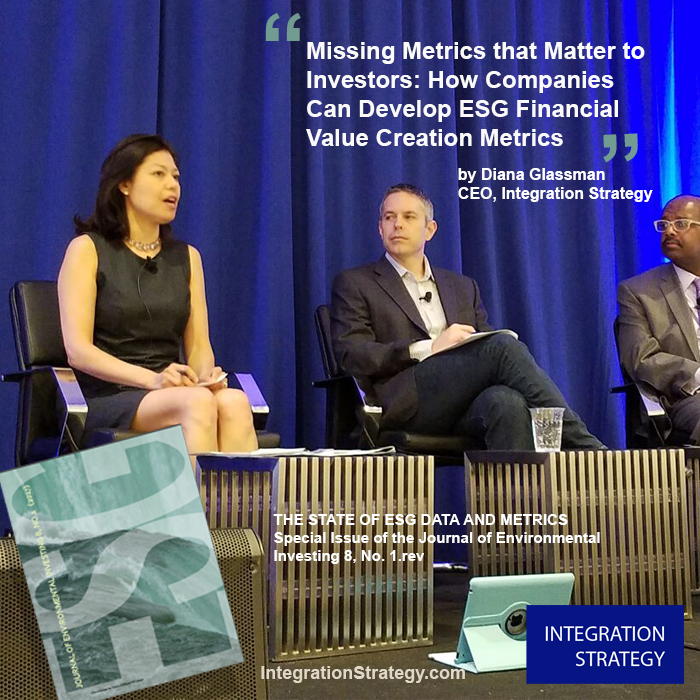 Read Journal of Environmental Investing, Yale Initiative on Sustainable Finance   The Missing Metrics that Matter to Investors