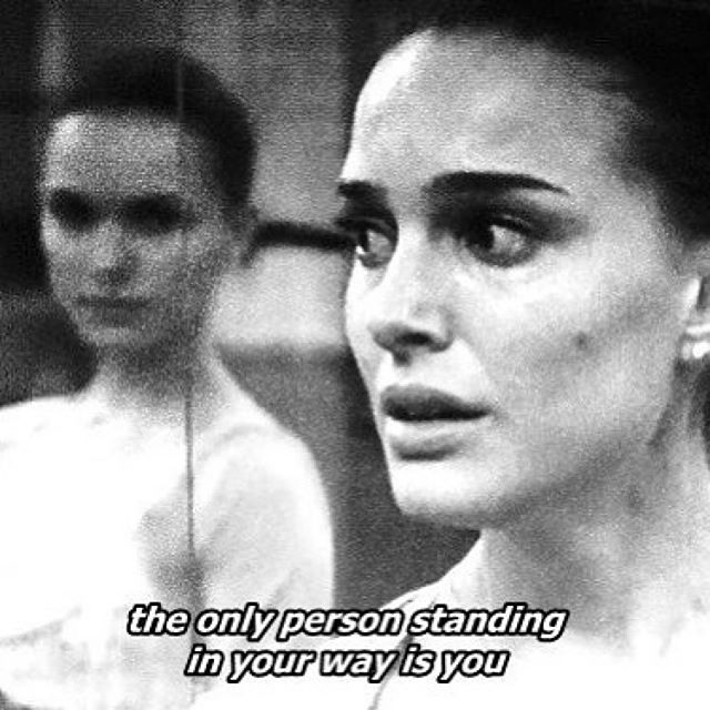 get out of your way 💫 ・・・ #Repost @womenandfilm #theonlypersonstandinginyourwayisyou #getoutofyourownway #stopsabotagingyourself #justdoit #fiercelyfemale