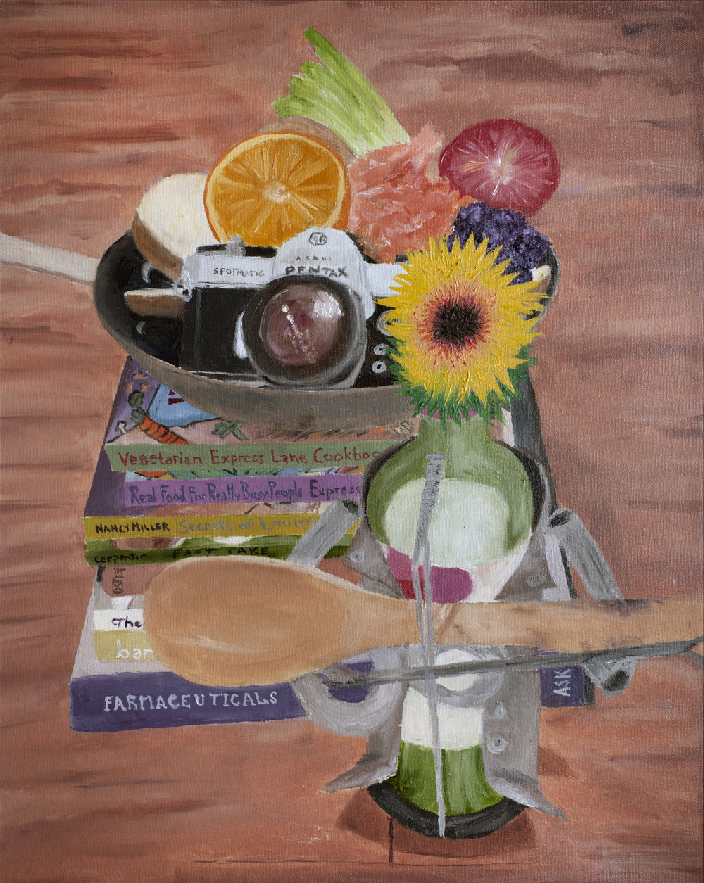 FARMaceuticals - 2017. Oil on canvas. 16x20in.Access to proper ingredients is mandatory for intentional nutrition of body, mind, and soul.—Flash Mom