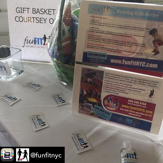 Repost from @funfitnyc📍happening now! visit us at @momshood swap on the UWS! #sports #party #kids #nyc #sale #comesayhi